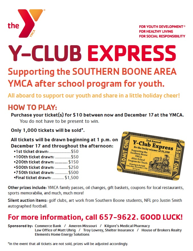 2nd Annual Y-Club Express Flyer