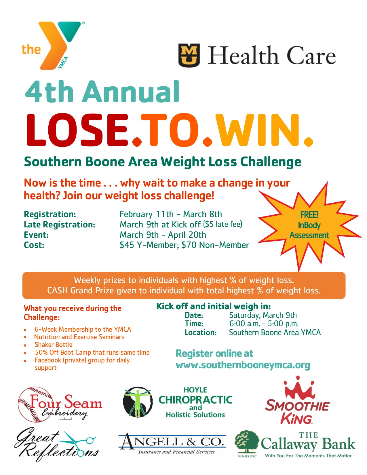 4th Annual – Lose To Win Weight Loss Challenge